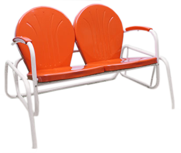 Close Out Biscayne Double Glider Metal Lawn Gliders