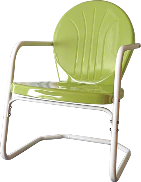 Heavy Duty Bellaire Metal Lawn Chair Blue Green Lime
