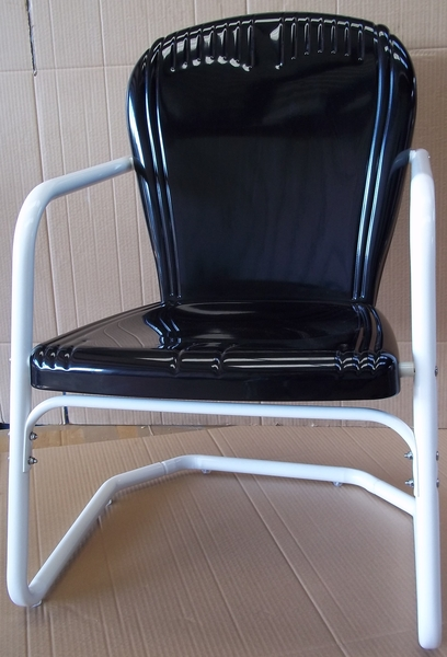 Heavy Duty Riviera Metal Lawn Chairs, Vintage Metal Outdoor Chairs