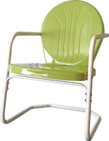 Image HEAVY DUTY Bellaire Metal Lawn Chair