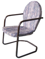 Image SECOND - Realtree Camoflauge Metal Lawn Chair