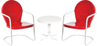 Image 2 Bellaire Chairs/1 white Side Table