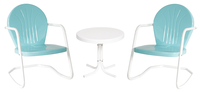 Image 2 Bellaire Rocking Chairs/1 White Side Table