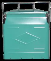 Image Embossed Picnic Cooler with Metal Liner-Aqua