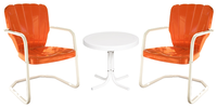 Image 2 Heavy Duty Thunderbird Chairs/1 White Side Table